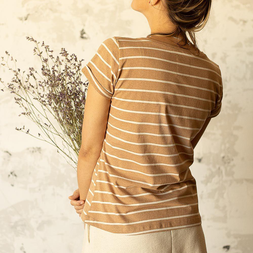 Blusa Lily - Listra Marrom