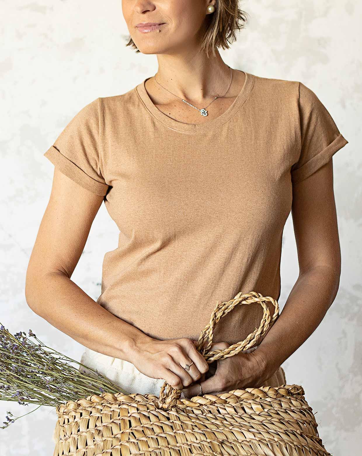 Blusa Lily Marrom - Algodão Orgânico Colorido Natural