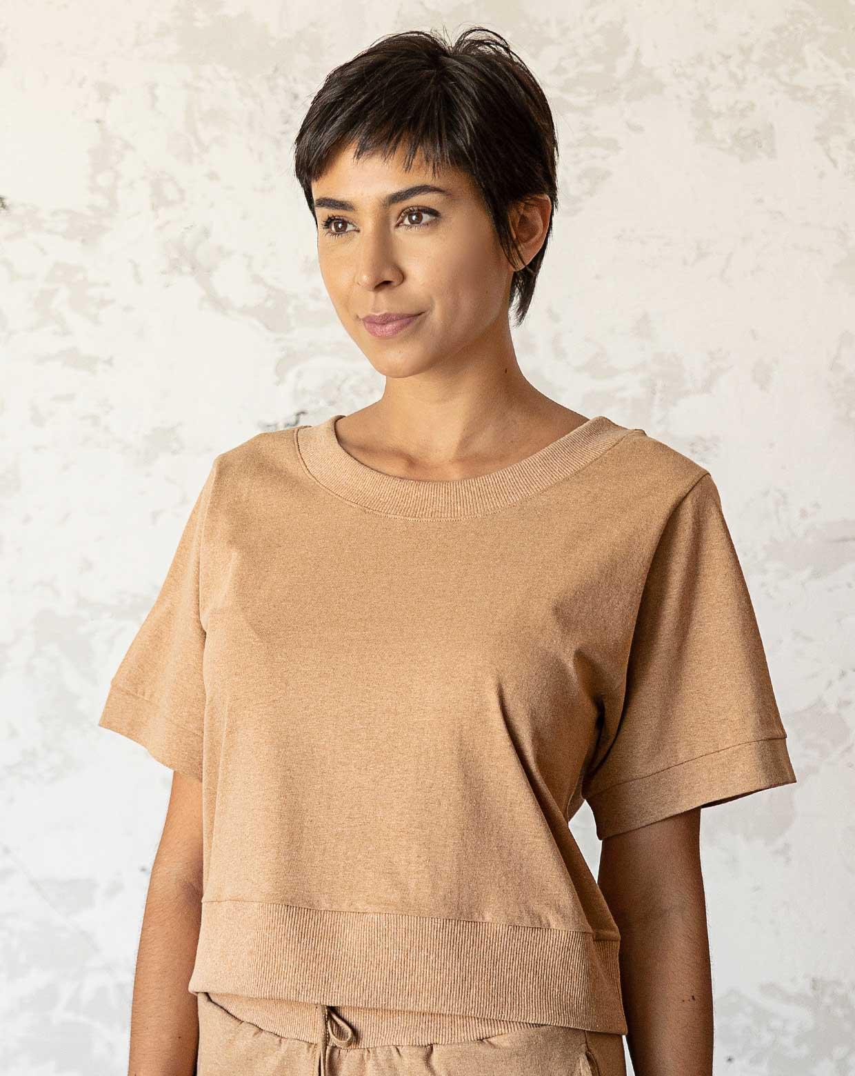 Blusa Malu - Algodão Orgânico Colorido Natural