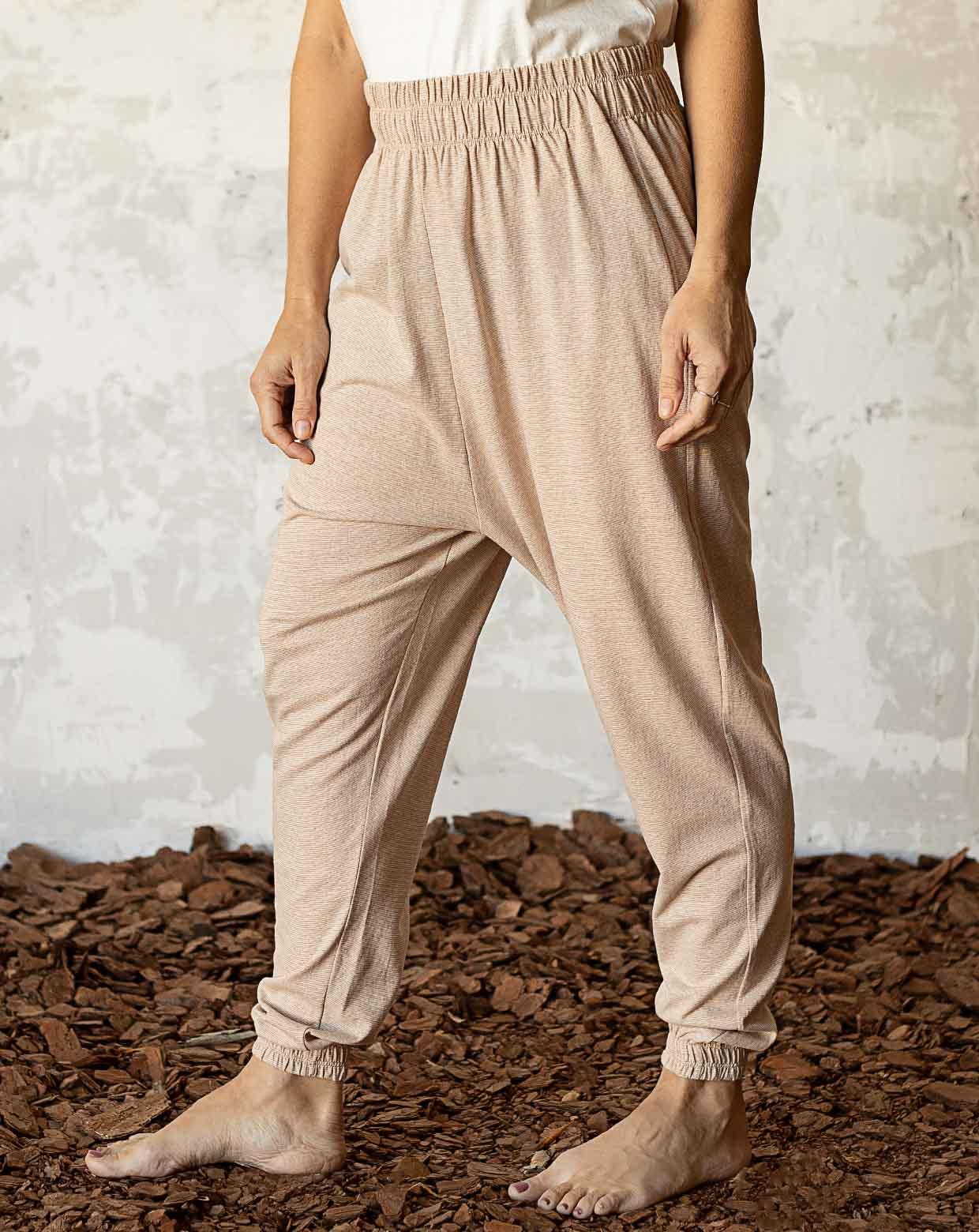 Calça Yoga Mescla - Algodão Orgânico Colorido Natural
