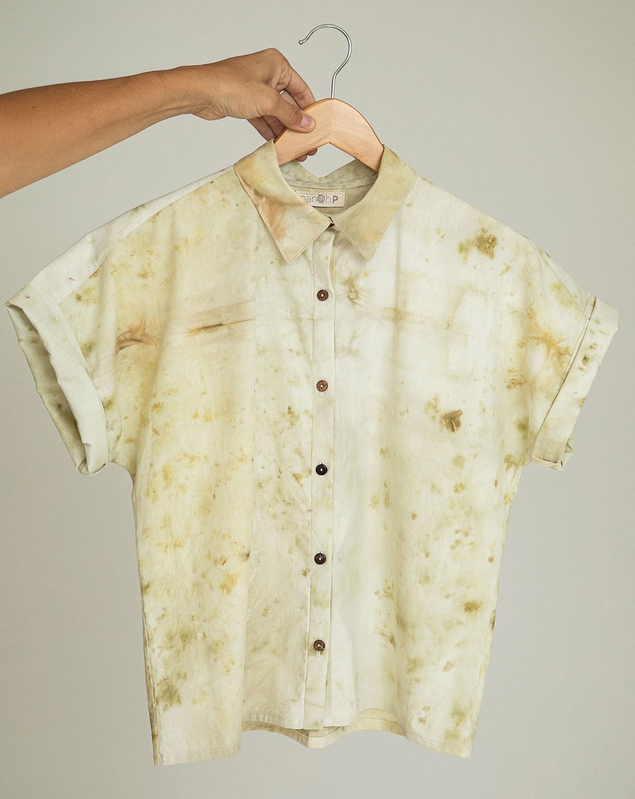 Camisa Yara Macela - Impressão Botânica