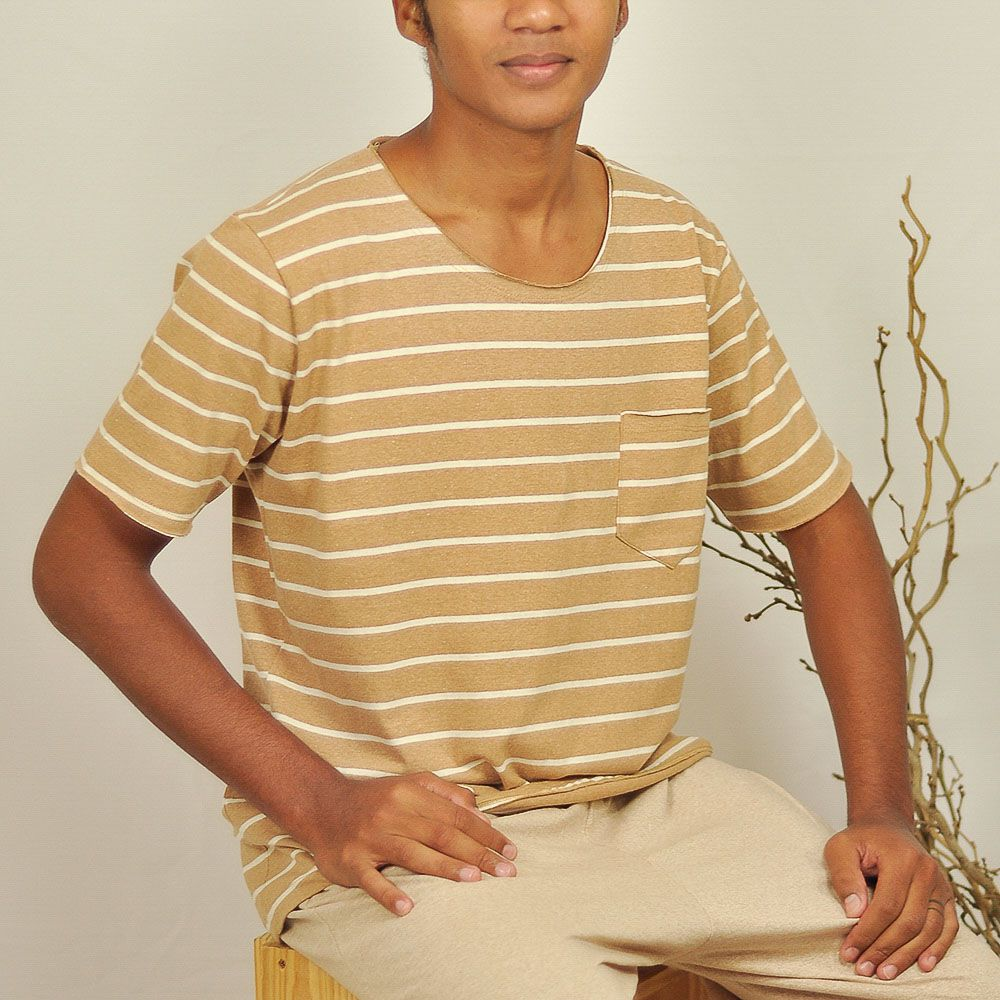Camiseta Jorge - Listra Marrom
