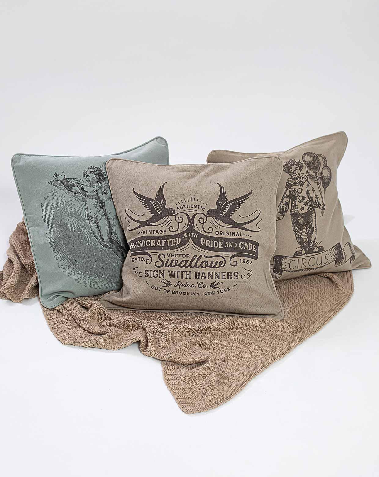 Kit Almofadas Vintage - Tecido Ecológico