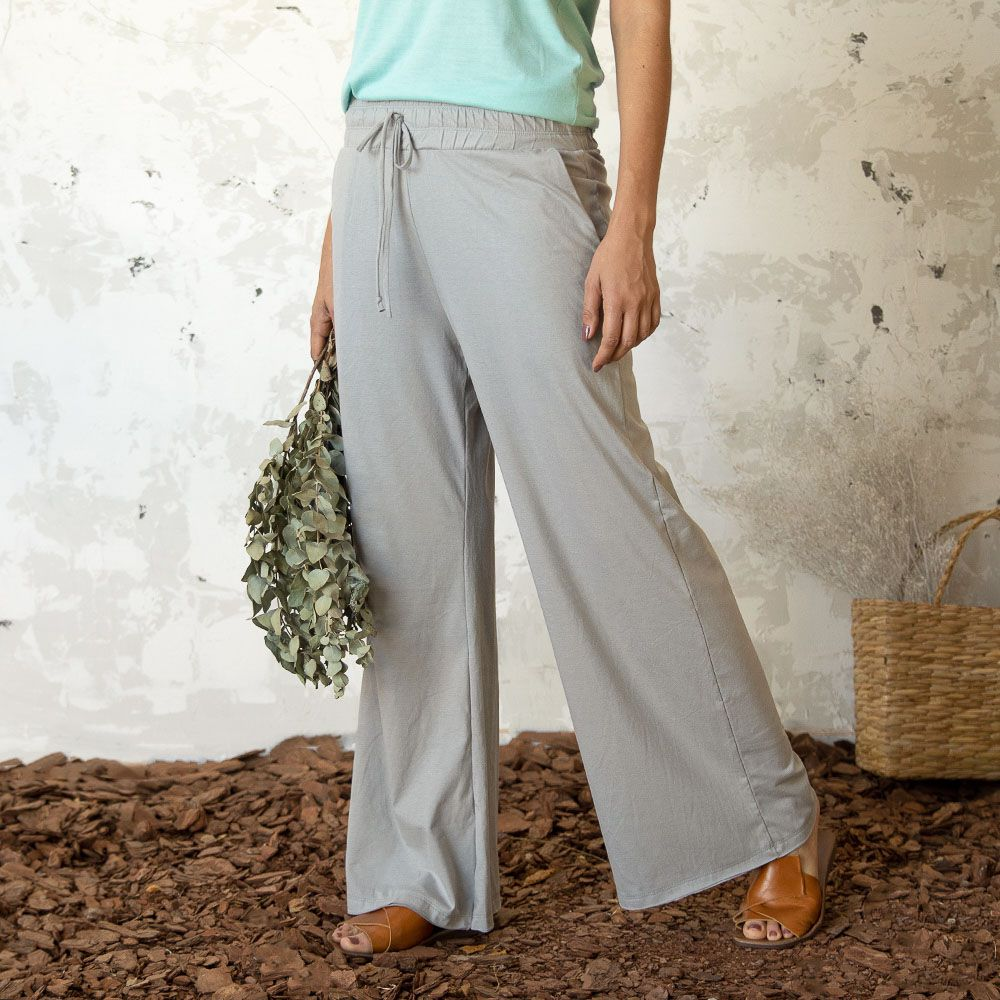 Pantalona Rosa Eco - Cinza