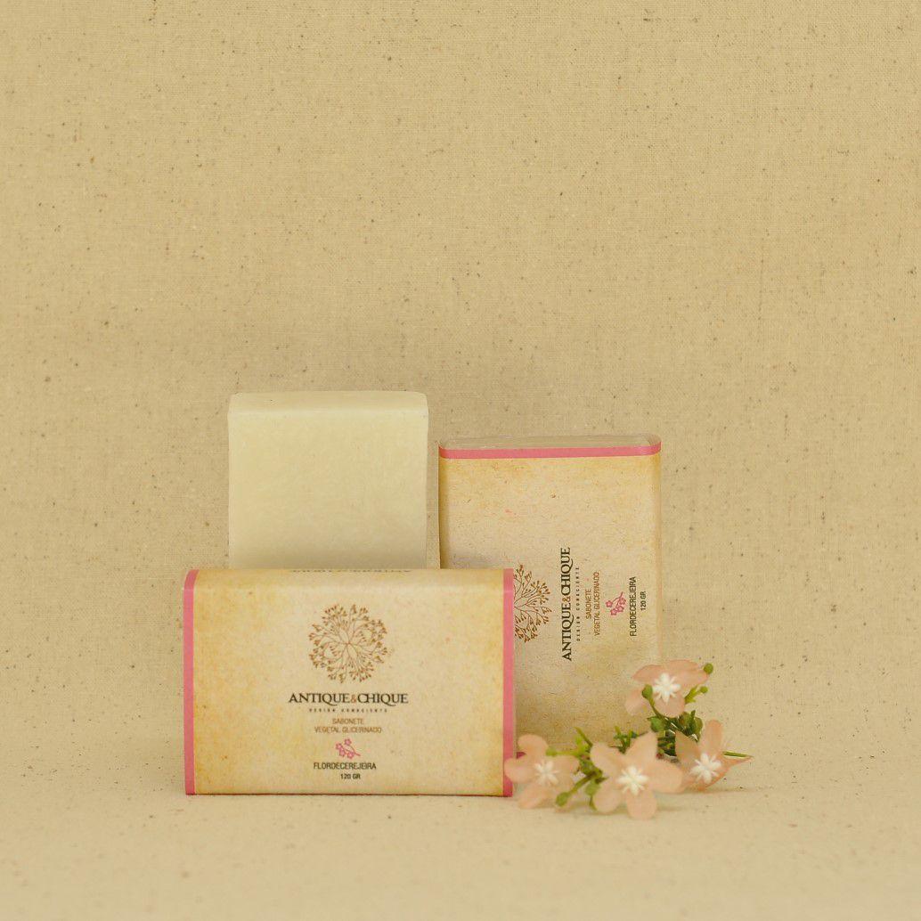 Sabonete Vegetal Glicerinado 120g - Flor de Cerejeira