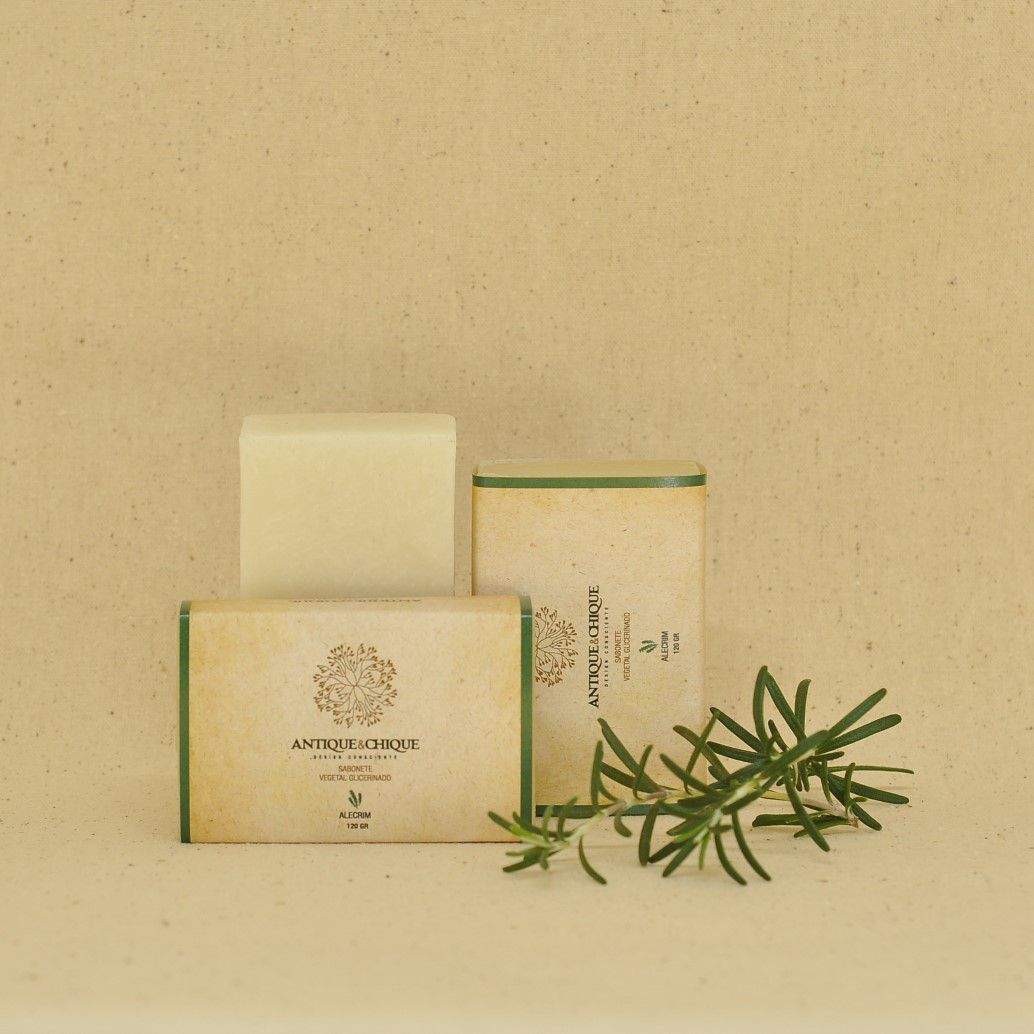 Sabonete Vegetal Glicerinado 120gr - Alecrim