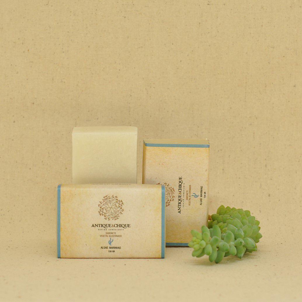 Sabonete Vegetal Glicerinado 120gr - Algas Marinhas