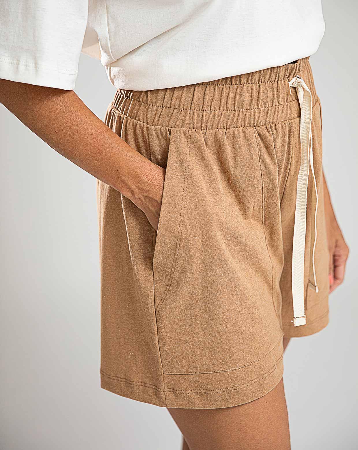 Shorts Pinheiro Casca - Algodão Orgânico