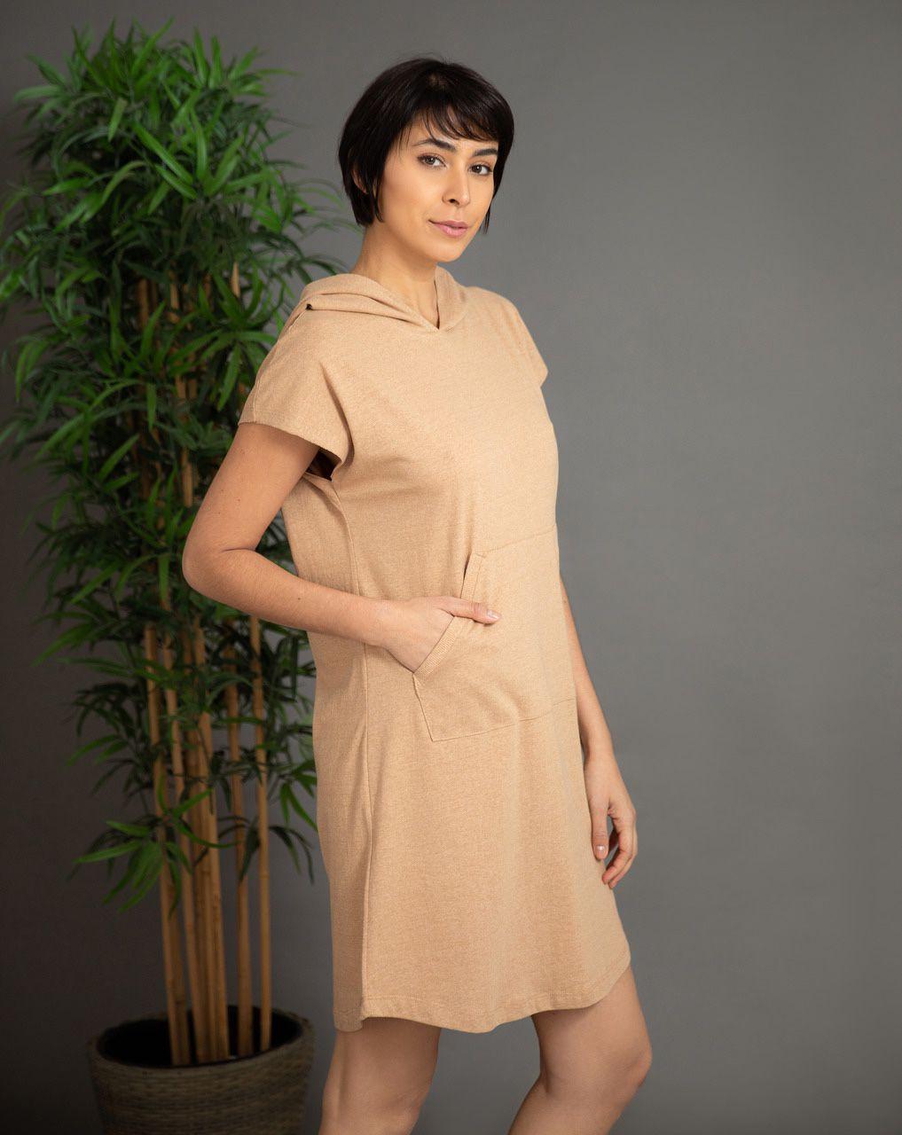 Vestido Capuz Versátil - Algodão Orgânico Colorido Natural