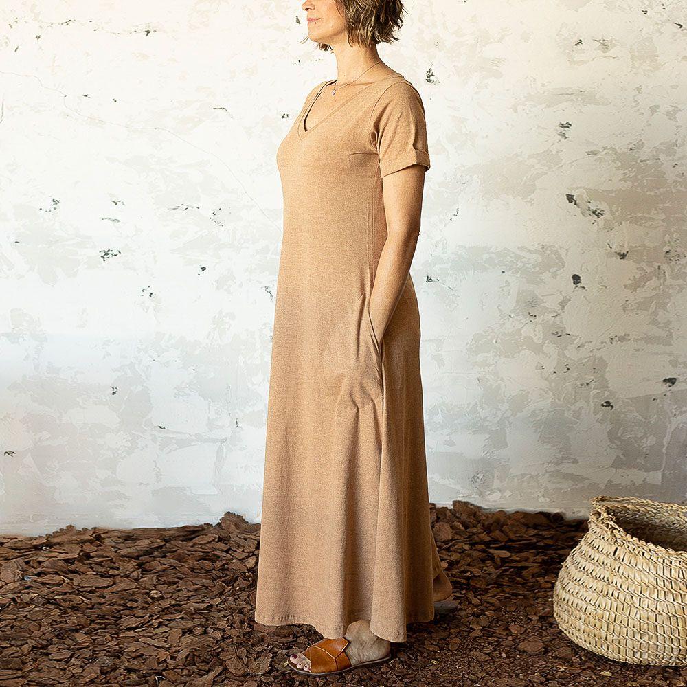 Vestido Carmem Marrom