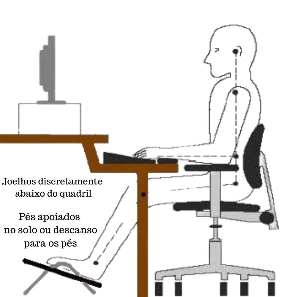 APOIO DE PÉ EM MDF COM REGULAGEM PRETO MULTILASER
