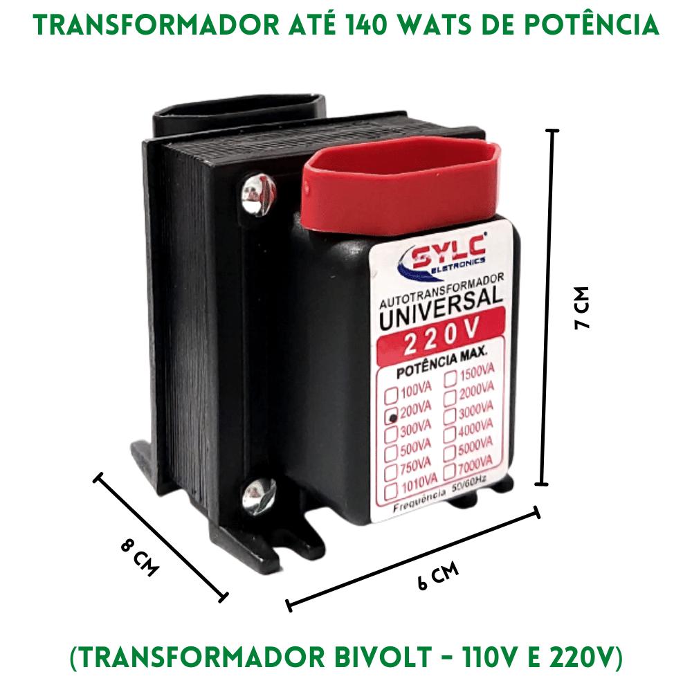 Auto Transformador 110v 220v 140w 200va Sylc