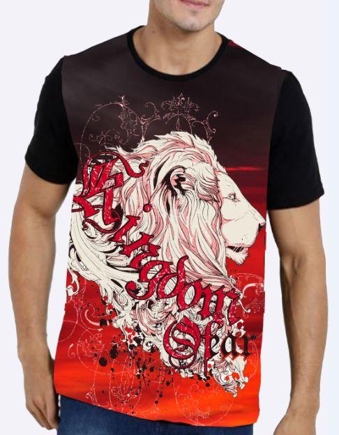 Camiseta Lion Red Masculina