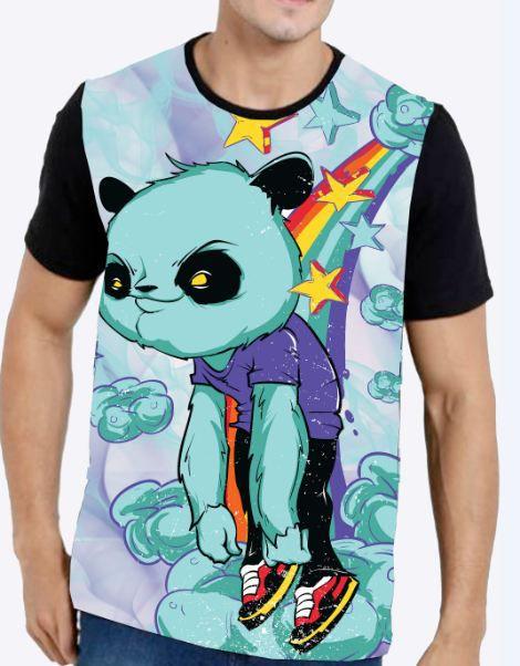 Camiseta Masculina Panda