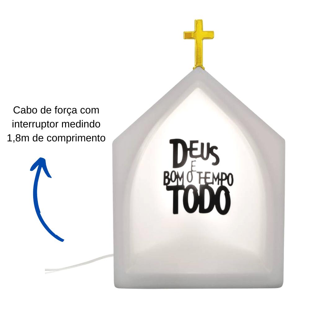 Capela Oratório Iluminado Deus é bom Branco