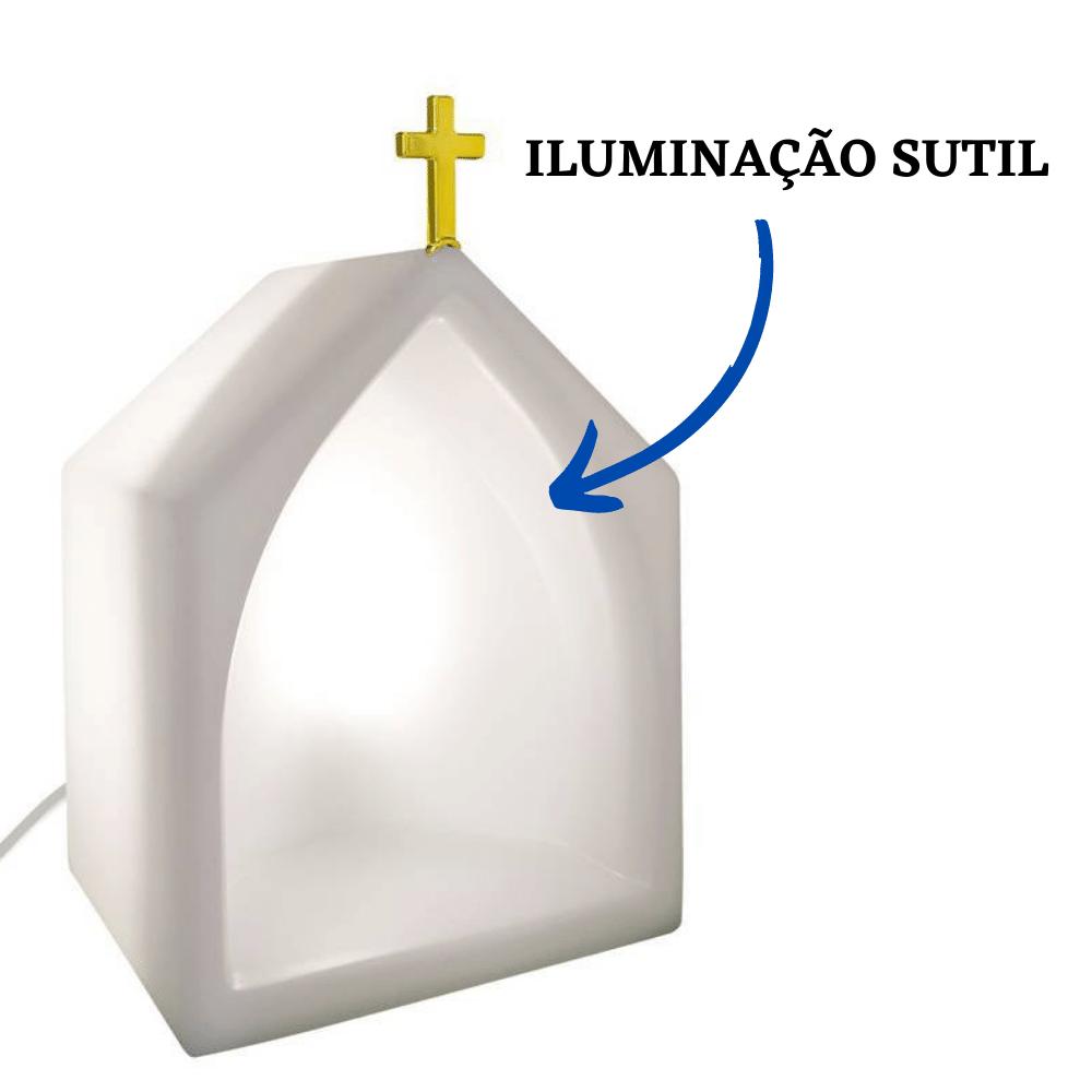 Capela Oratório Iluminado Natural Branco
