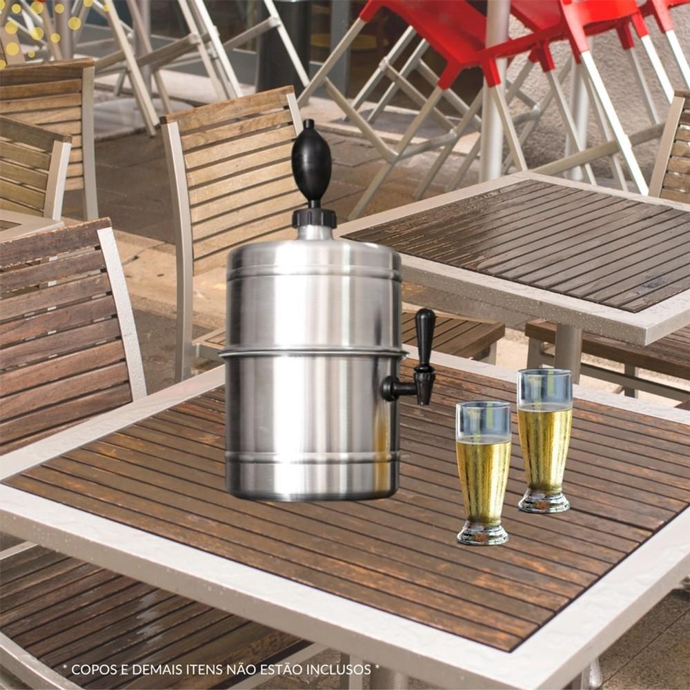 Chopeira Aluminio Portátil Residencial Gelo Completa 5,1 L