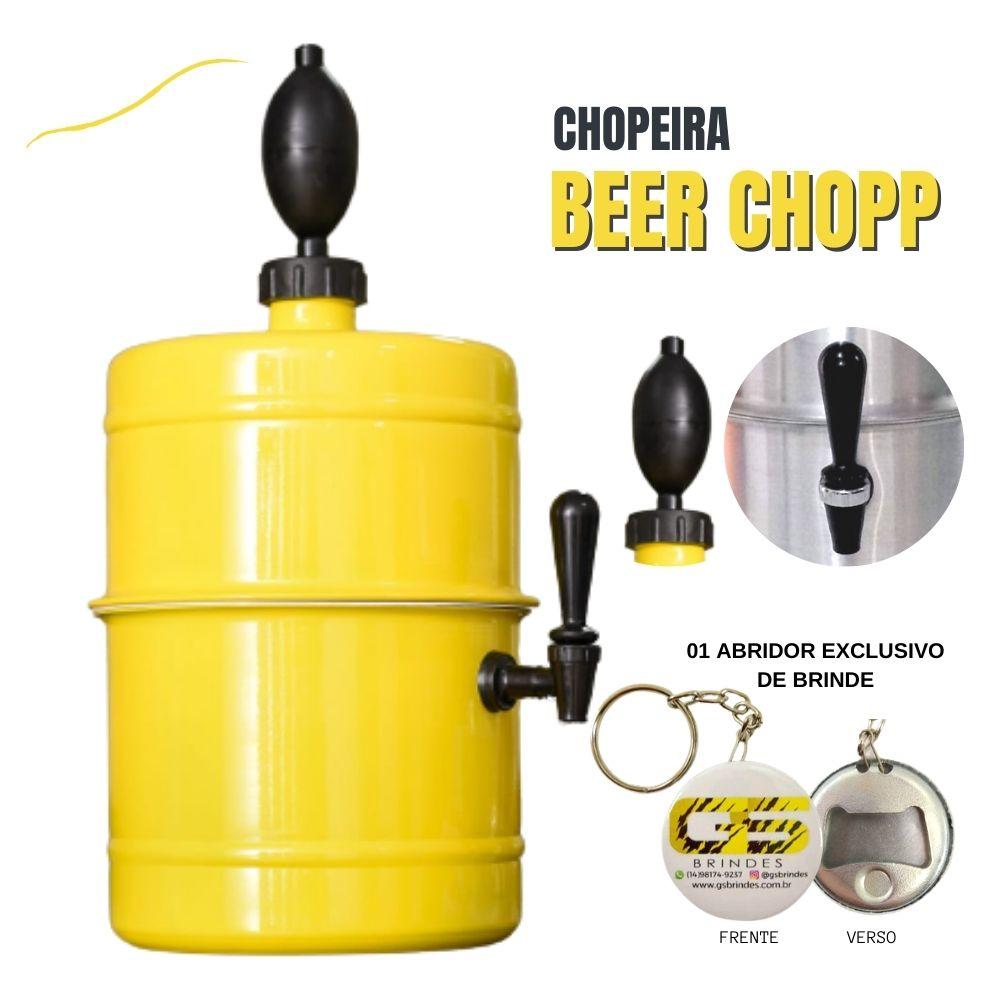Chopeira Amarela Portátil Residencial Gelo Completa 5,1 L