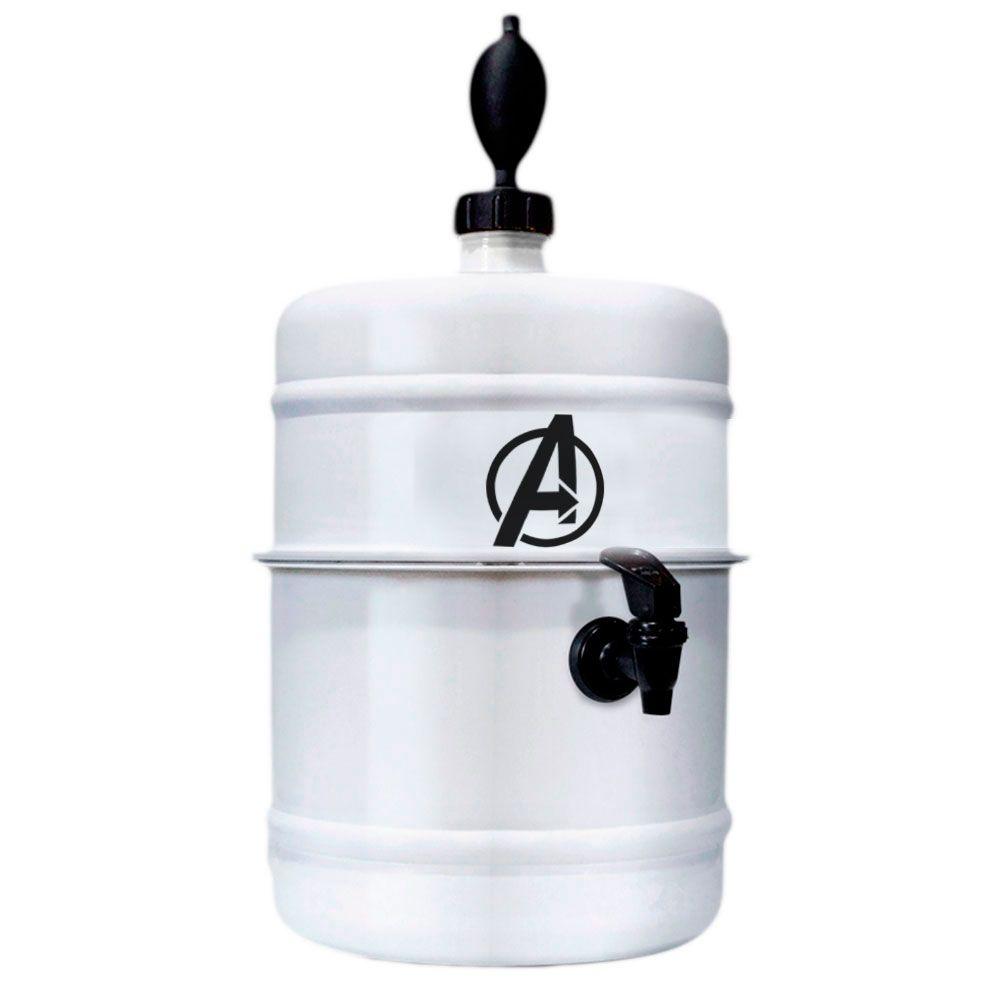 Chopeira Avengers - Branca - Portátil 5,1 L