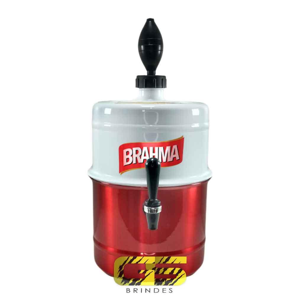 Chopeira Brahma Branca e Vermelha Portátil 5,1 L
