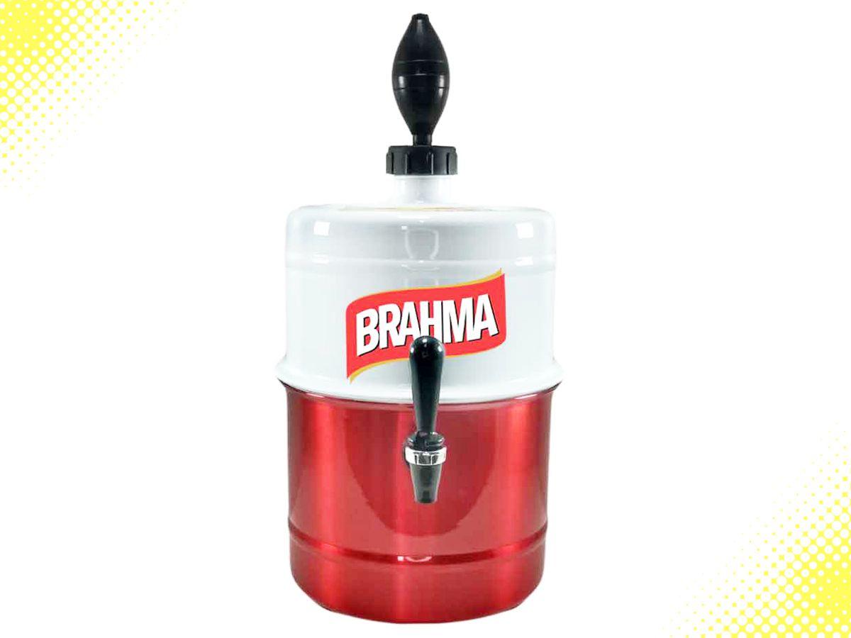 Chopeira Brahma Branca Vermelha Personalizada Portátil 5,1 L