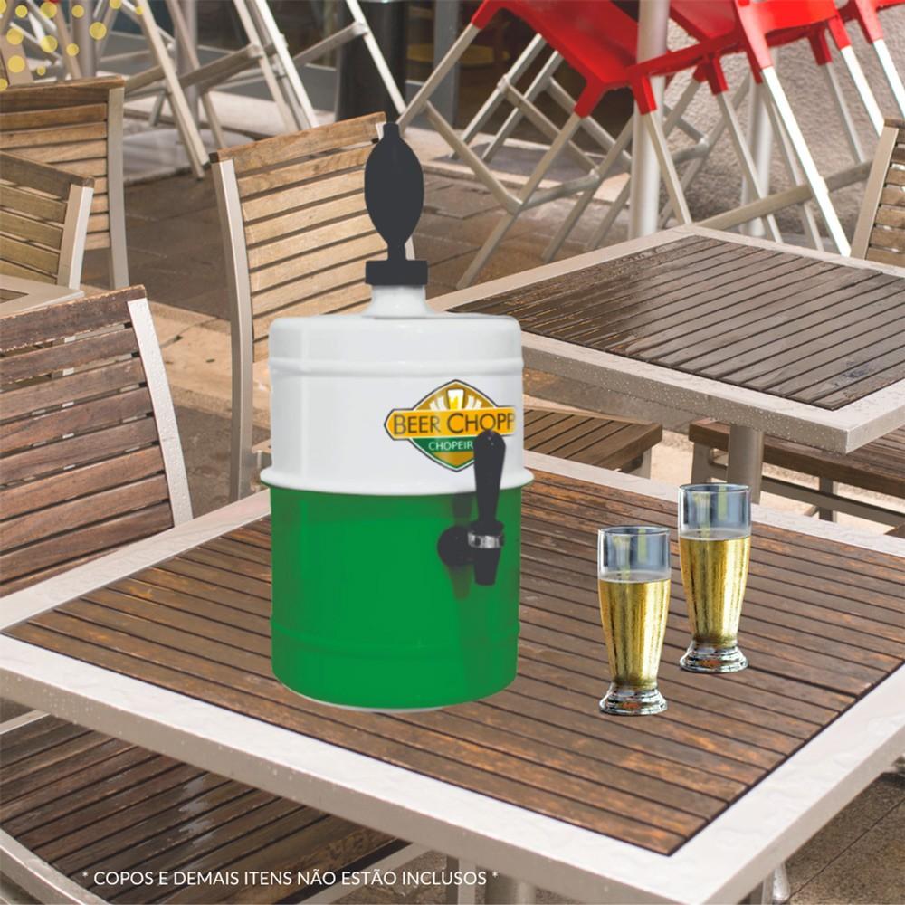 Chopeira Branca Verde Portátil Residencial Gelo Completa 5,1 L