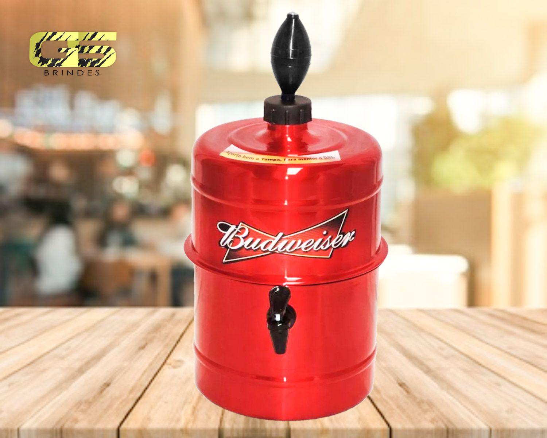 Chopeira Budweiser -  Vermelha - Portátil 5,1 L