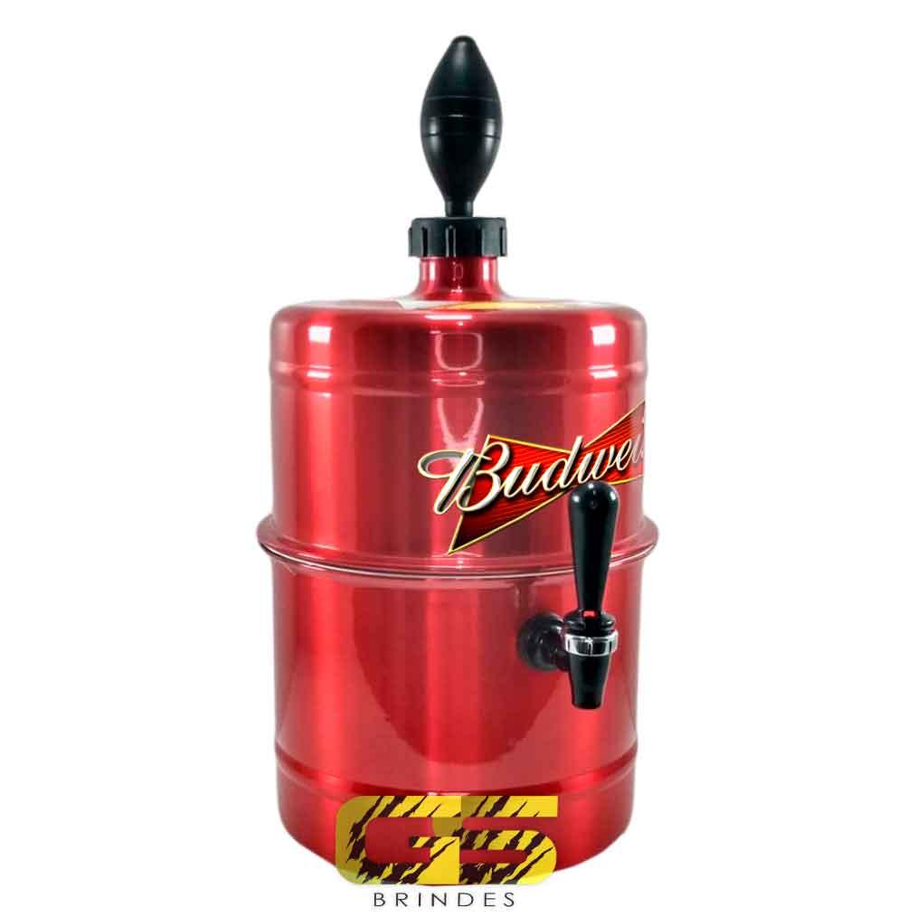 Chopeira Budweiser Vermelha Portátil 5,1 L