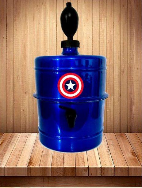 Chopeira Capitão América Azul - Portátil 5,1 L - Cerveja Gelada