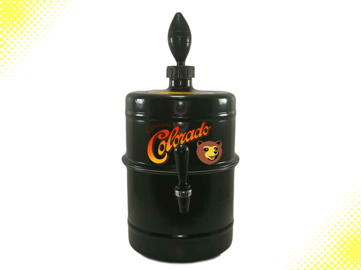 Chopeira Colorado Preta Personalizada Portátil 5,1 L