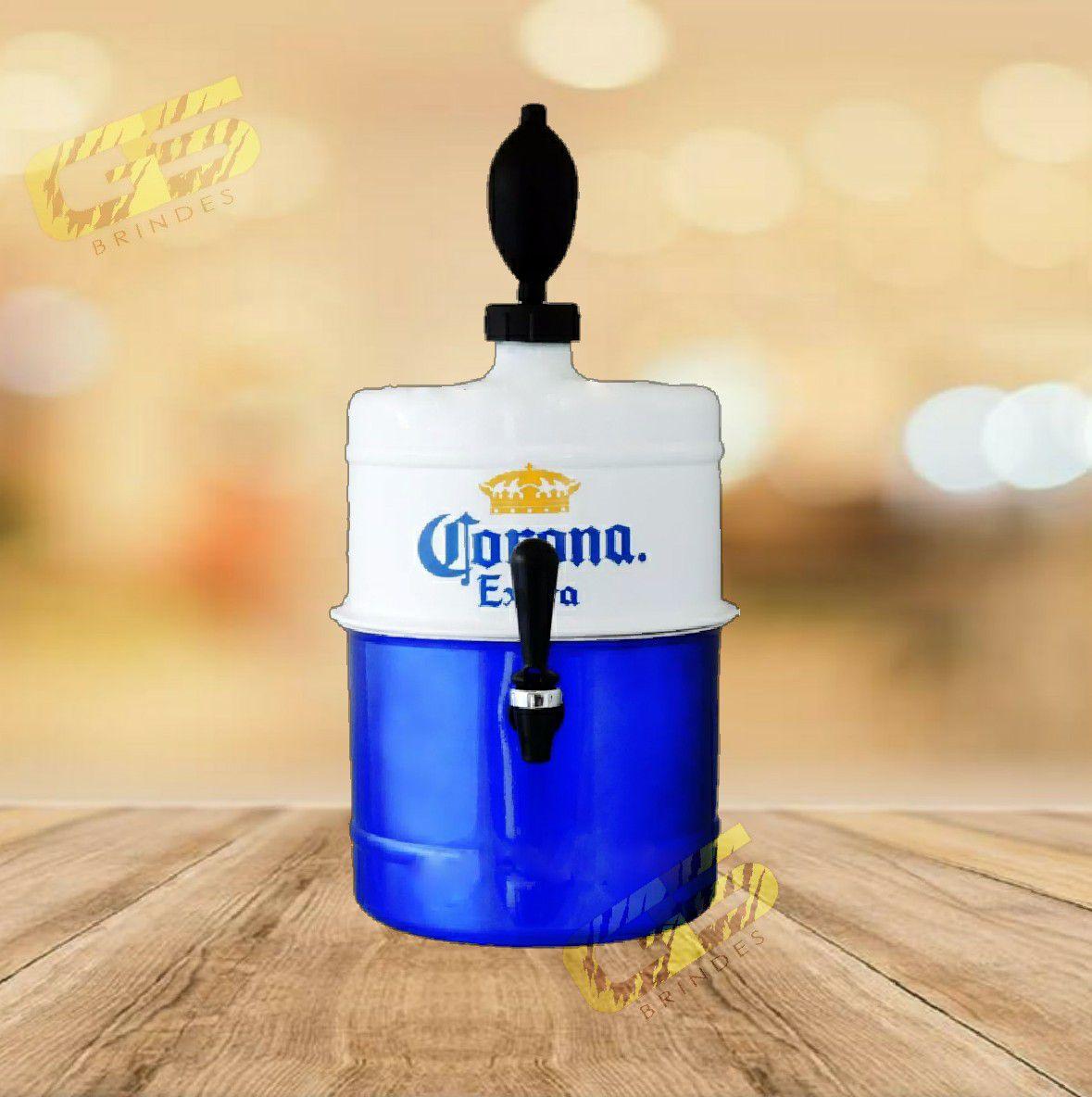 Chopeira Corona - Portátil 5.1 L - Azul e Branca
