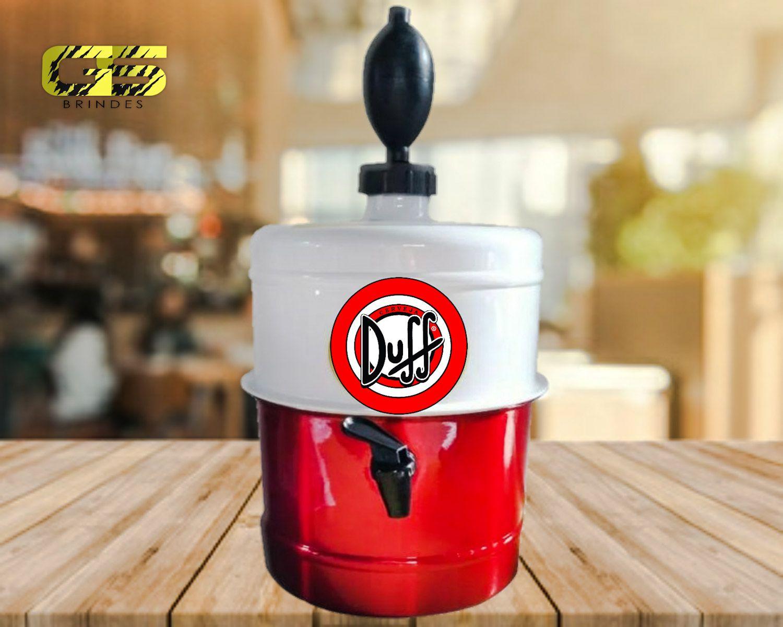 Chopeira Duff - Branca e Vermelha - Portátil 5,1 L