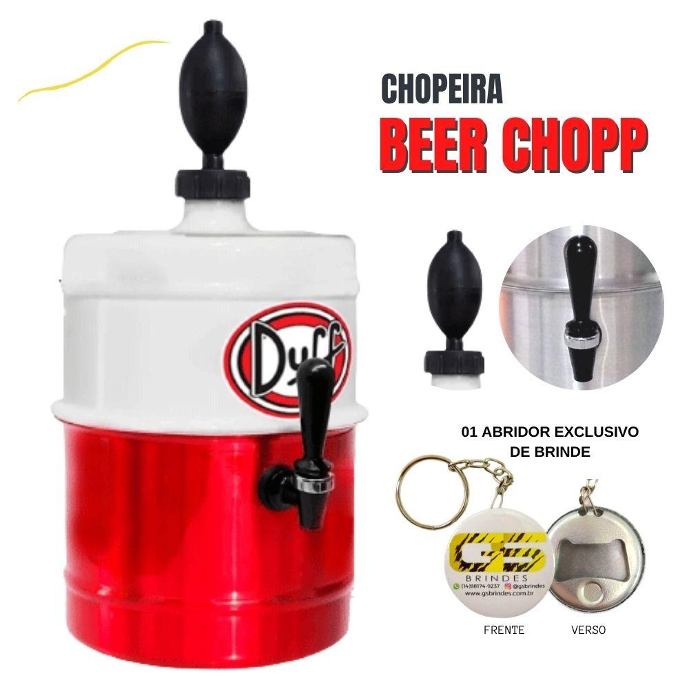 Chopeira Duff Branca e Vermelha Portátil 5,1 L