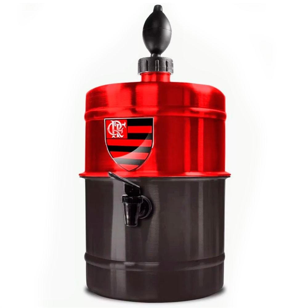 Chopeira Flamengo - Vermelha e Preta - Portátil 5,1 L