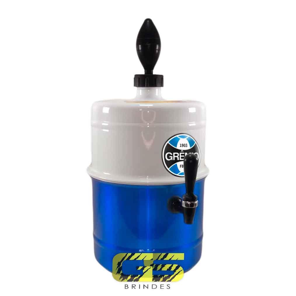 Chopeira Gremio Branca e Azul Portátil 5,1 L