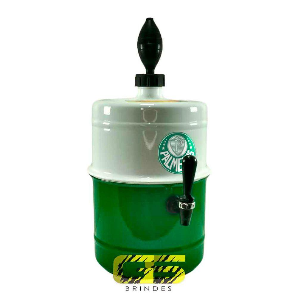 Chopeira Palmeiras Branca e Verde Portátil 5,1 L
