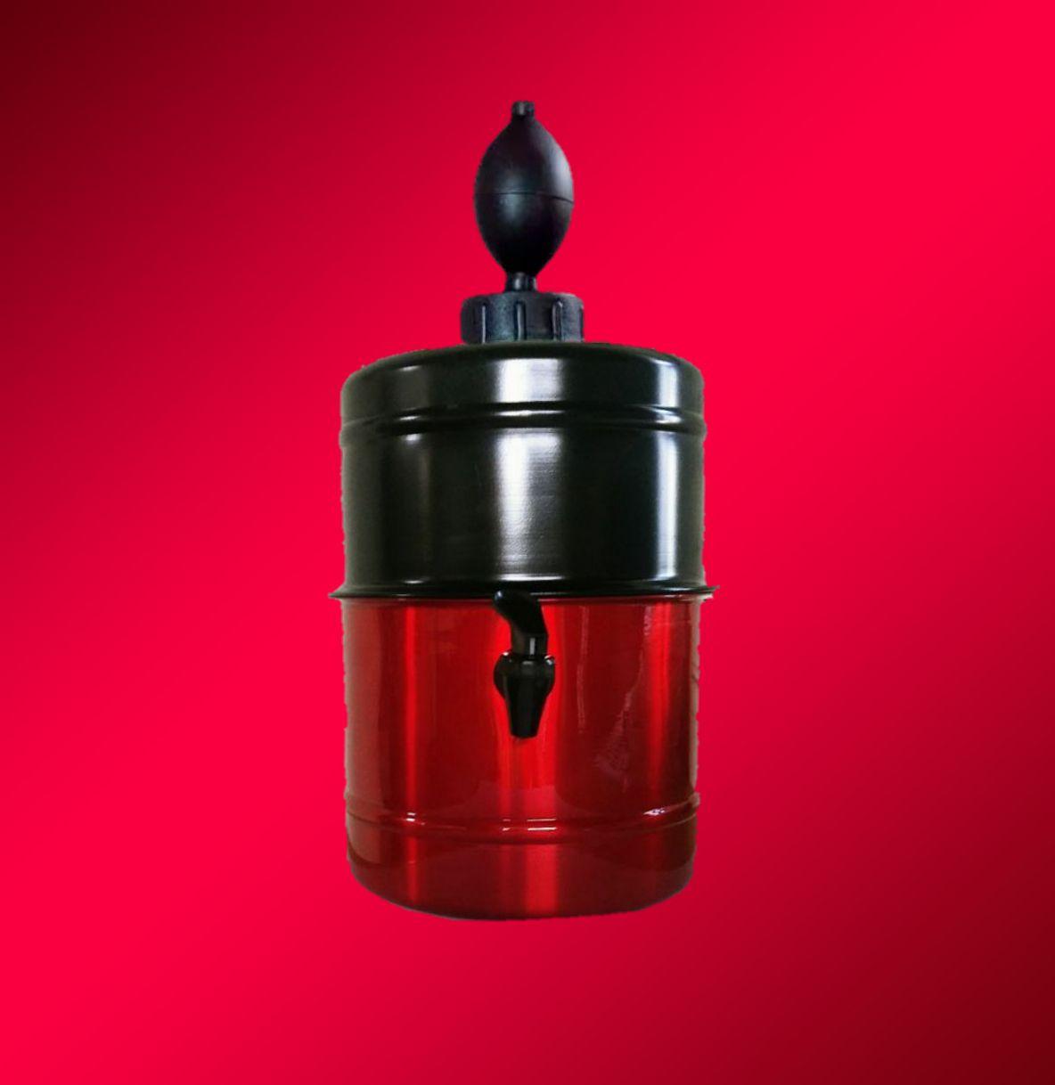 Chopeira  Preta e Vermelha - Personalizada - Portátil 5,1 L