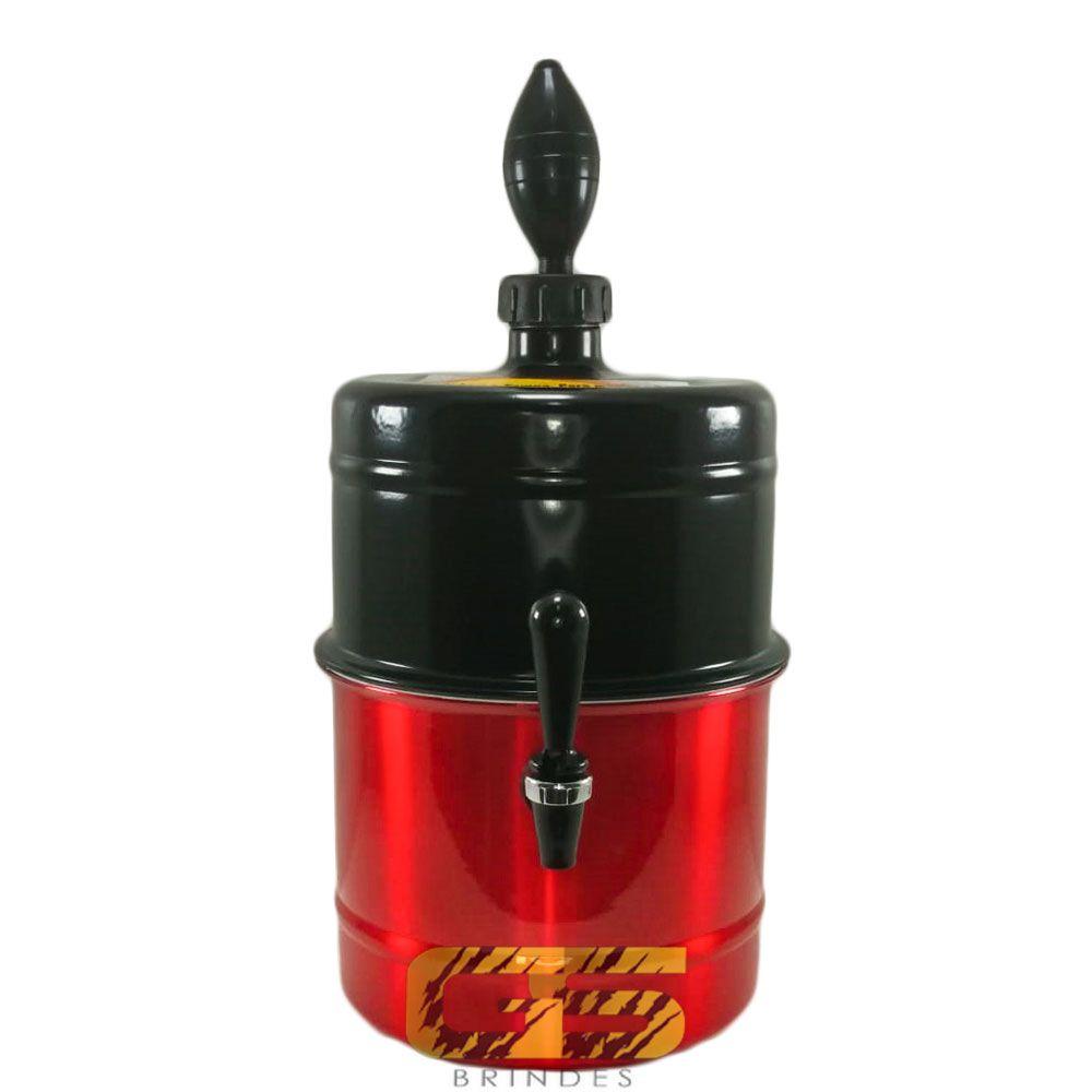 Chopeira Preta e Vermelha Personalizada Portátil 5,1 L