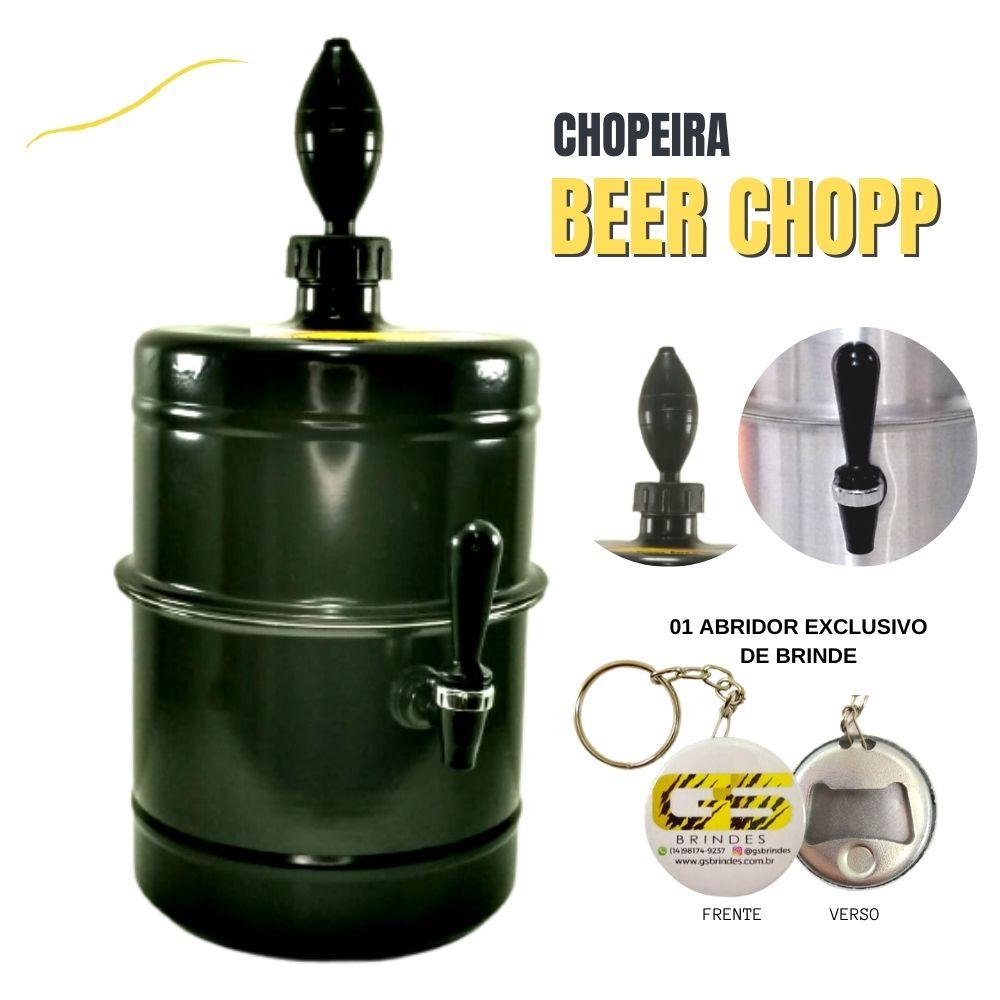 Chopeira Preta Portátil Residencial Gelo Completa 5,1 L