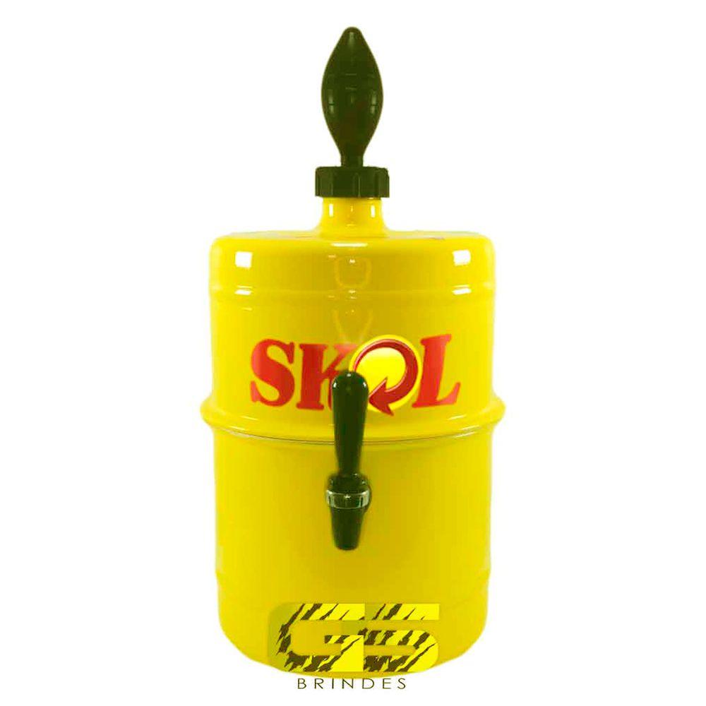 Chopeira Skol Amarela Portátil 5,1 L