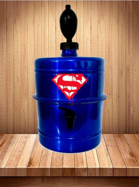 Chopeira Super Man - Azul - Portátil 5,1 L