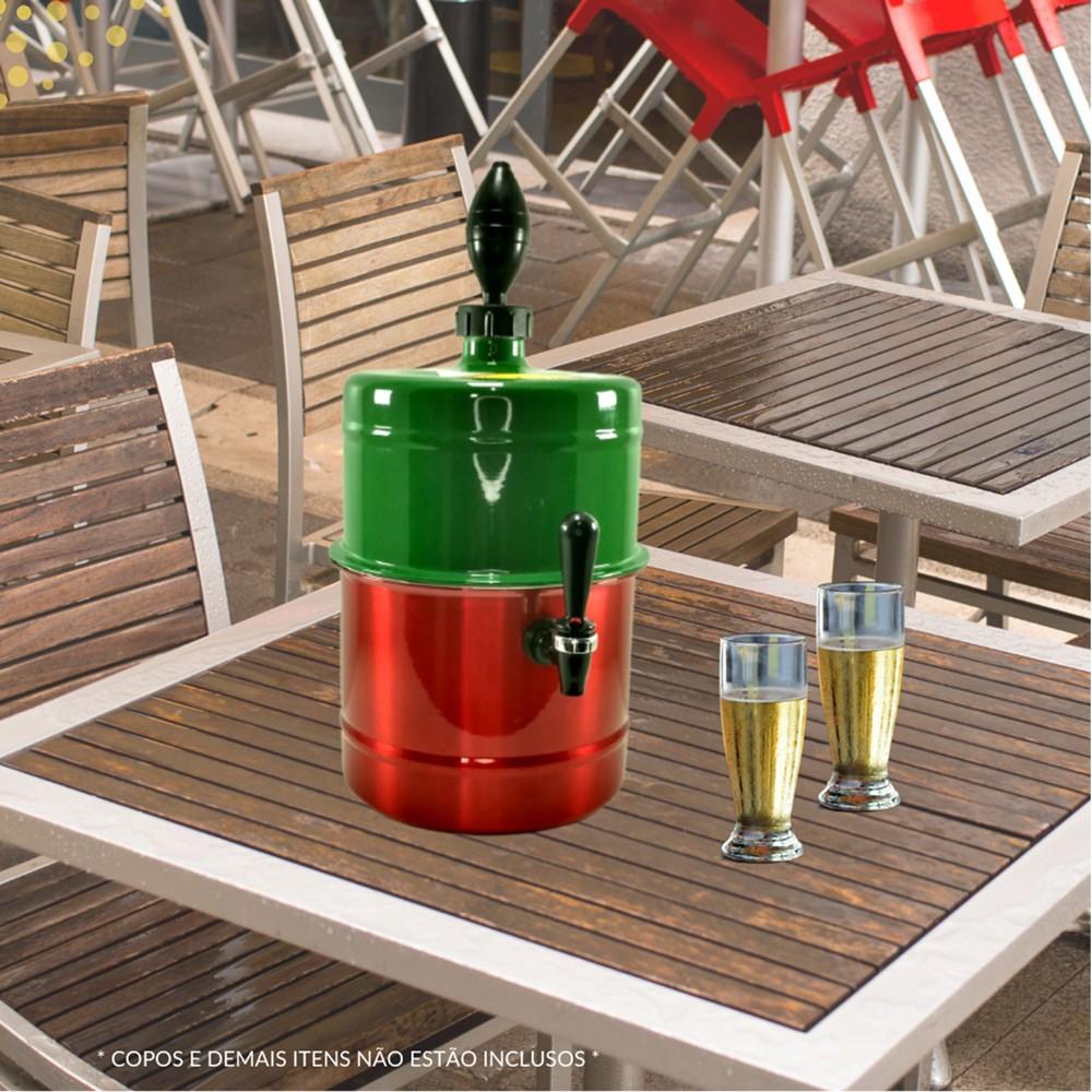Chopeira Verde Vermelha Portátil Residencial Gelo Completa 5,1 L