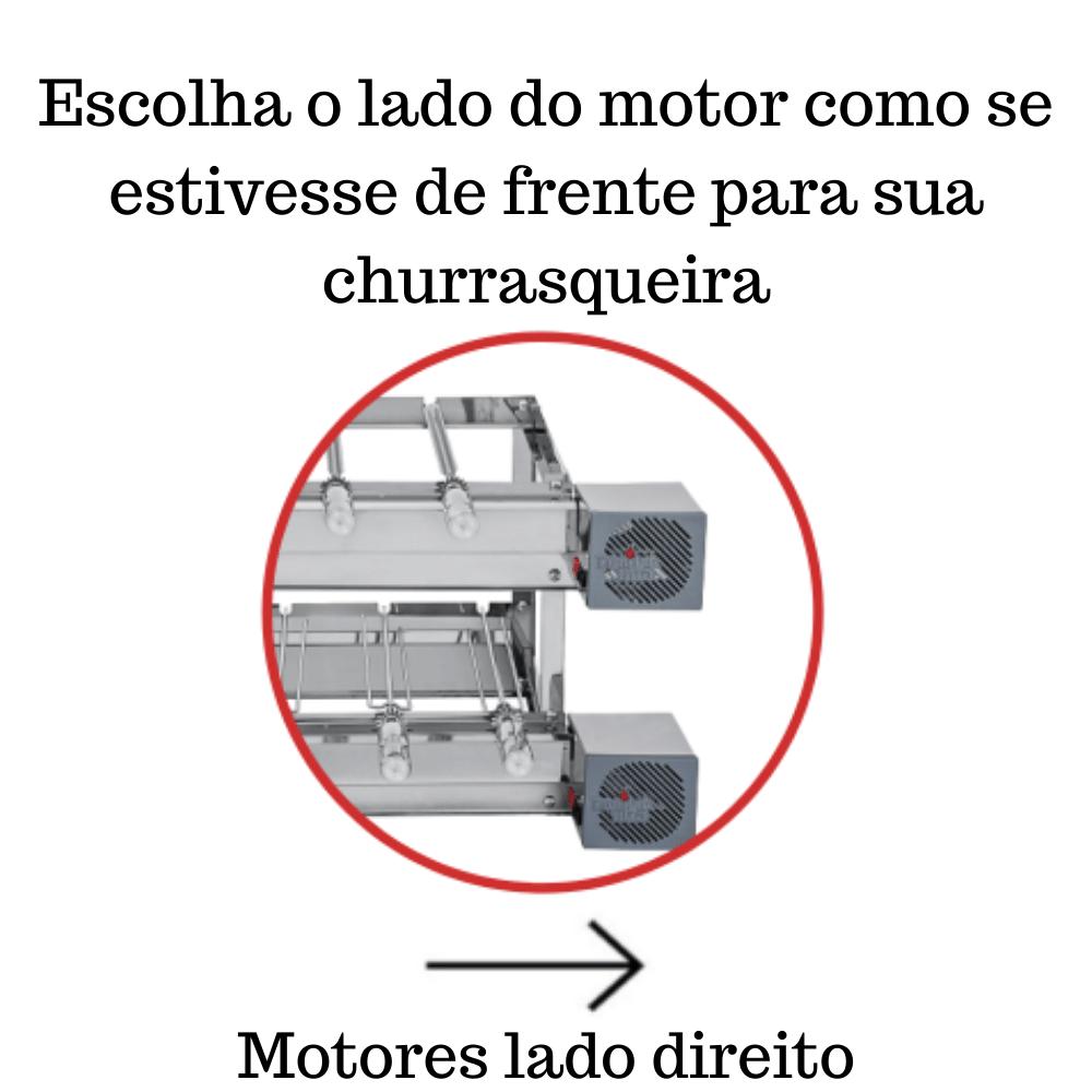 Churrasqueira Elétrica Giratória Inox 11 Espetos Modelo 2A Mot Direito
