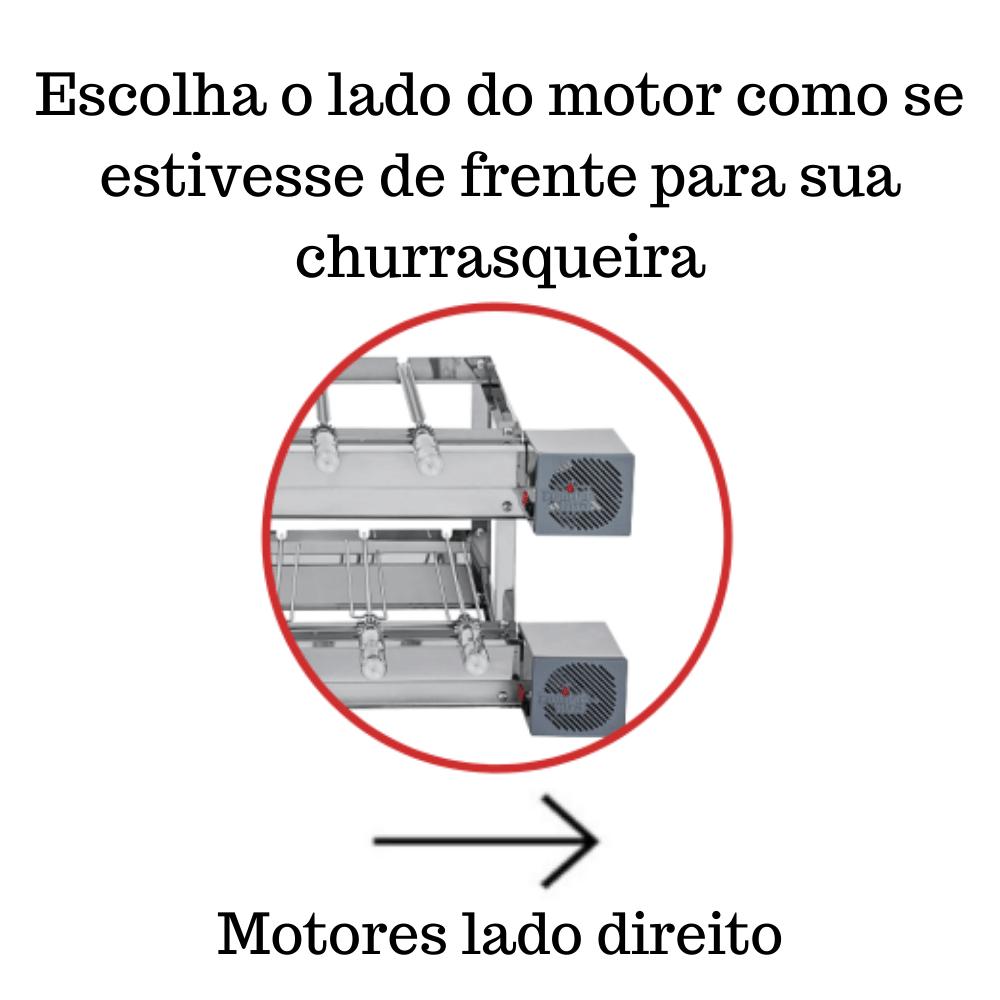 Churrasqueira Elétrica Giratória Inox 13 Espetos Modelo Especial 2A/2M Mot Direito