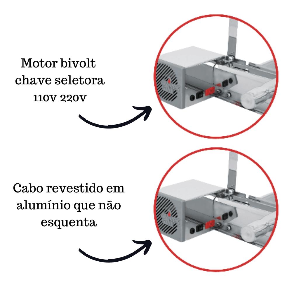 Churrasqueira Elétrica Giratória Inox 3 Espetos Modelo AG Mot Esquerdo