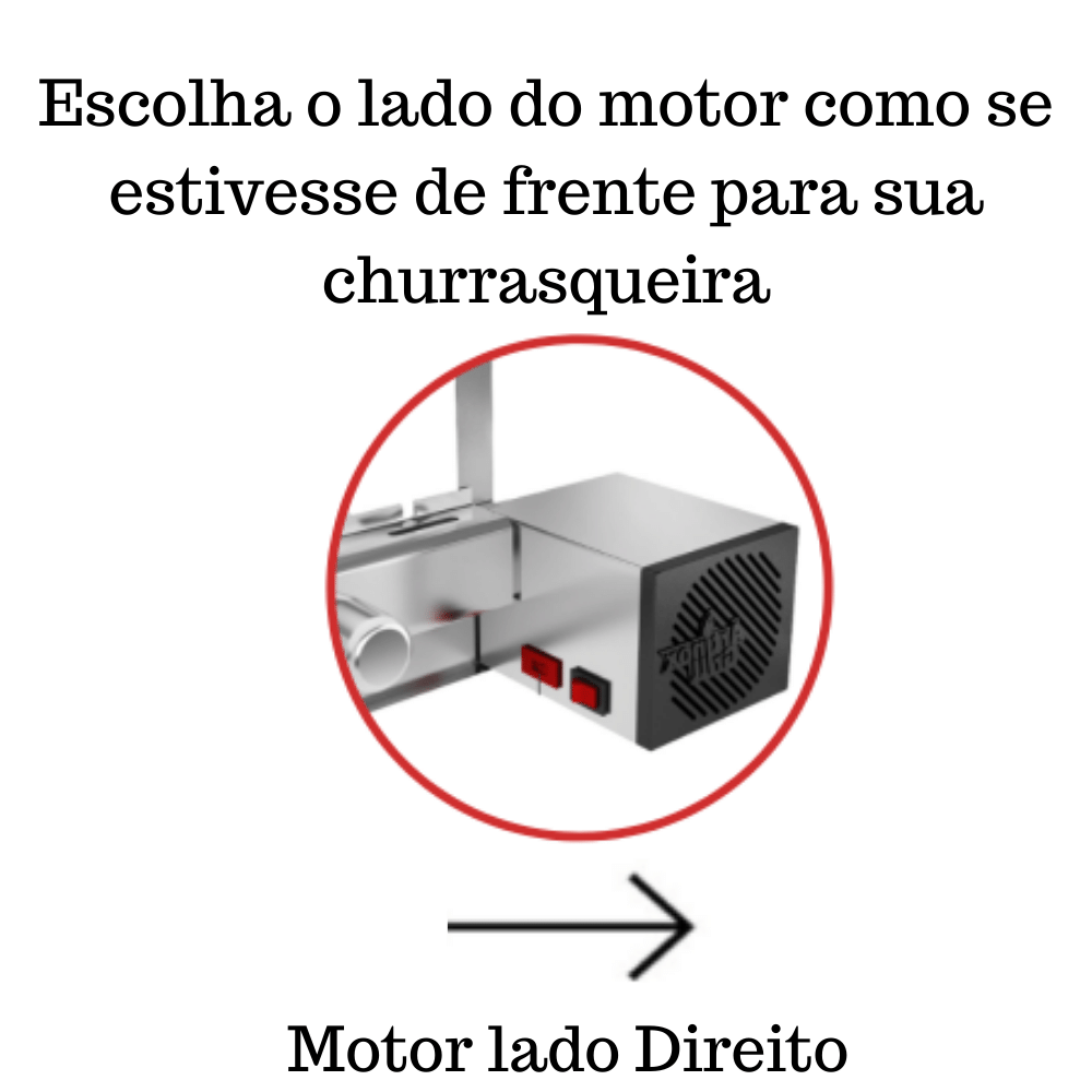 Churrasqueira Elétrica Giratória 4 Espetos Mod. AG Robust Mot Direito