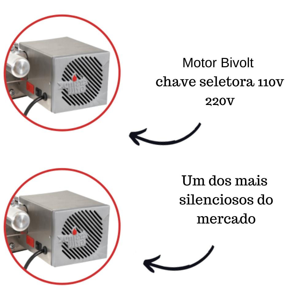 Kit Baixo Churrasqueira Elétrica Giratória 4 Espetos Mot Direito