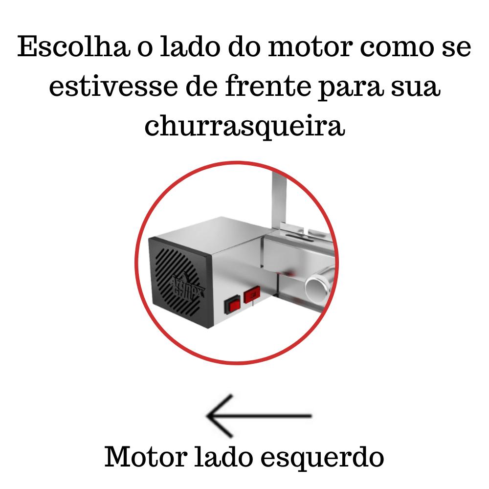 Churrasqueira Elétrica Giratória 5 Espetos Mod. AG Robust Mot Esquerdo