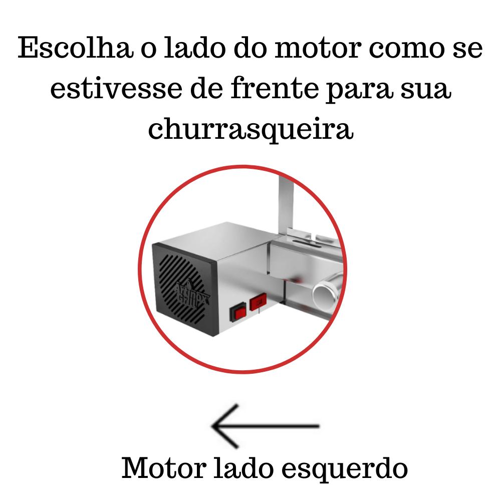 Churrasqueira Elétrica Giratória 6 Espetos Mod. AG Robust Mot Esquerdo