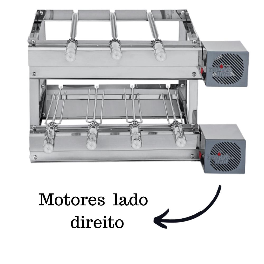 Churrasqueira Elétrica Giratória Inox 7 Espetos Modelo 2A Mot Direito